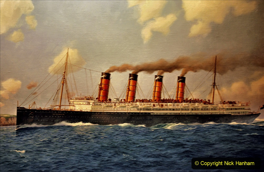 2019-11-03 to 17 Cunard's Queen Mary Southampton to New York. (56) Our ship. 056
