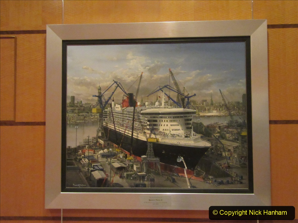 2019-11-03 to 17 Cunard's Queen Mary Southampton to New York. (61) Our ship. 061