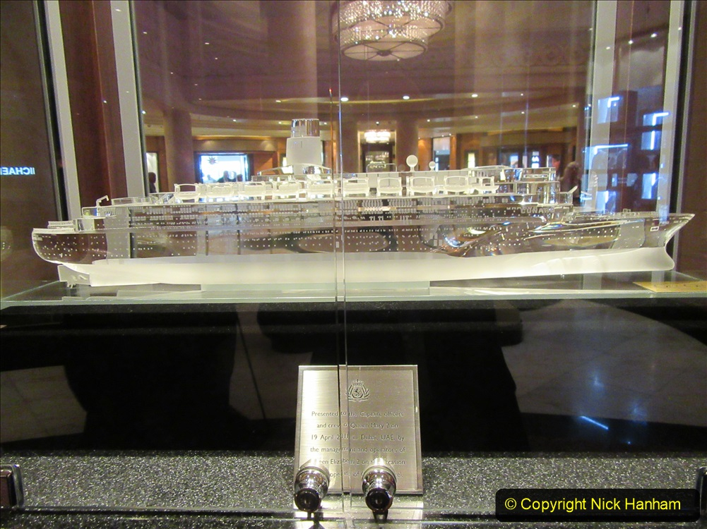 2019-11-03 to 17 Cunard's Queen Mary Southampton to New York. (63) Our ship. 063