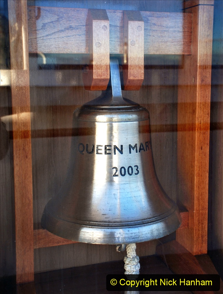 2019-11-03 to 17 Cunard's Queen Mary Southampton to New York. (92) Our ship. 092