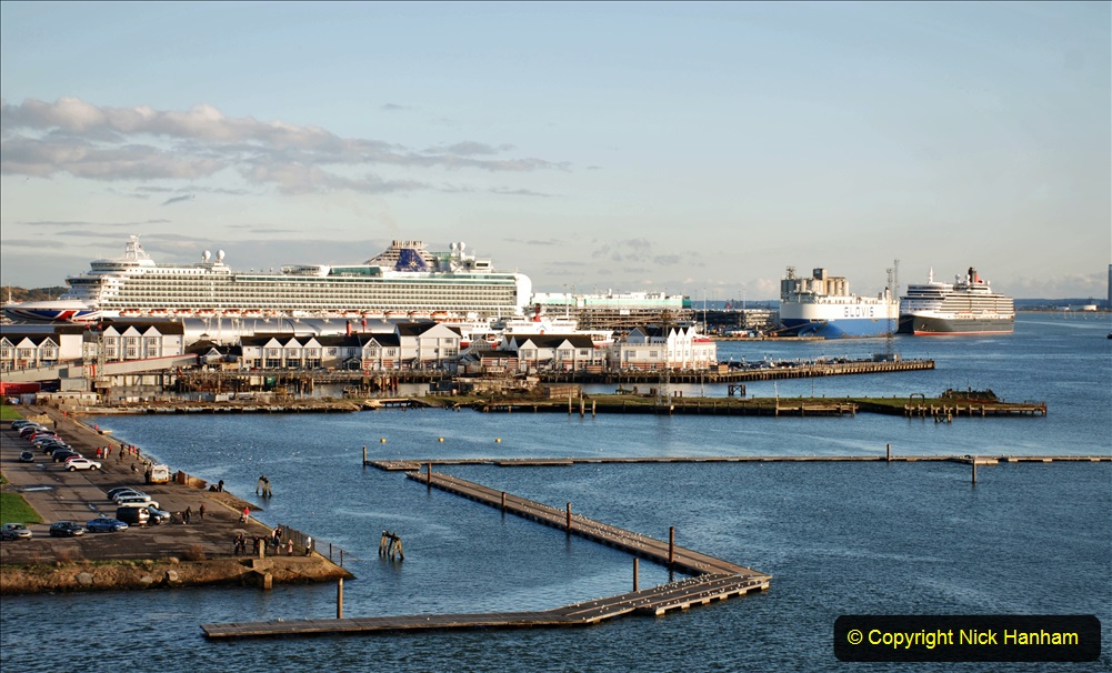 2019-11-03 to 17 Cunard's Queen Mary Southampton to New York. (94) Southampton. 094