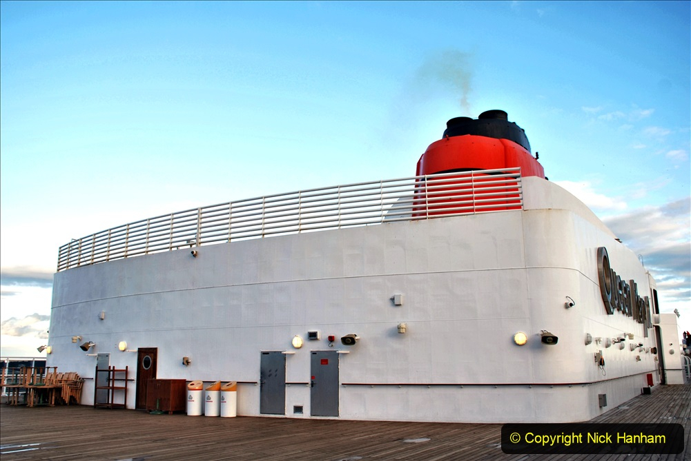 2019-11-03 to 17 Cunard's Queen Mary Southampton to New York. (98) Our ship. 098