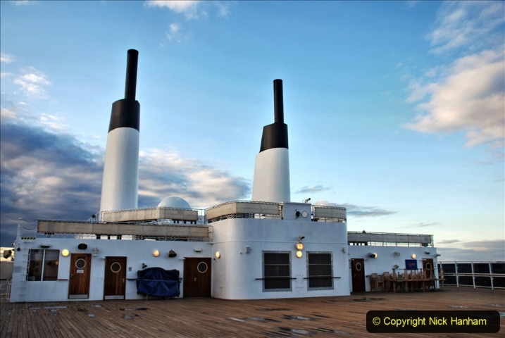 2019-11-03 to 17 Cunard's Queen Mary Southampton to New York. (105) Our ship. 105