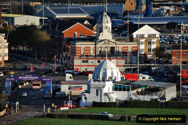 2019-11-03 to 17 Cunard's Queen Mary Southampton to New York. (125) Southampton. 125