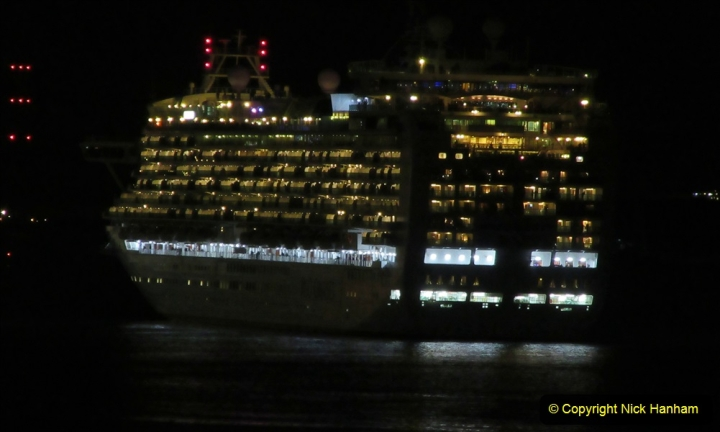 2019-11-03 to 17 Cunard's Queen Mary Southampton to New York. (153) P&O ship Ventura leaving harbour. 153