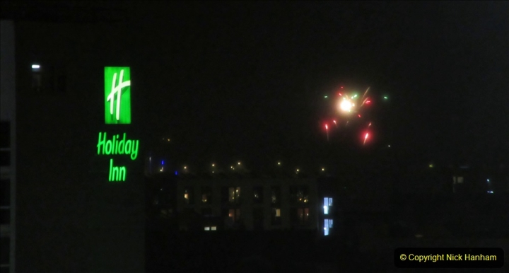 2019-11-03 to 17 Cunard's Queen Mary Southampton to New York. (162) Bonfire night celebration for November 05 as we leave. 162