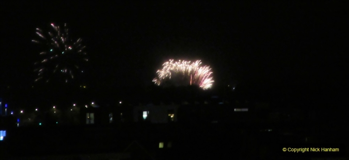 2019-11-03 to 17 Cunard's Queen Mary Southampton to New York. (165) Bonfire night celebration for November 05 as we leave. 165