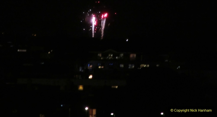 2019-11-03 to 17 Cunard's Queen Mary Southampton to New York. (171) Bonfire night celebration for November 05 as we leave. 171