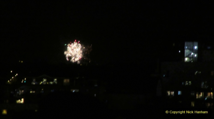 2019-11-03 to 17 Cunard's Queen Mary Southampton to New York. (177) Bonfire night celebration for November 05 as we leave. 177