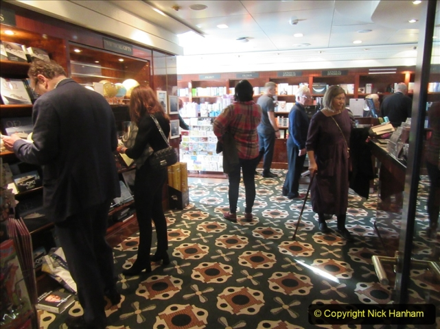 2019-11-03 to 17 Cunard's Queen Mary Southampton to New York. (210) Around the ship. 210