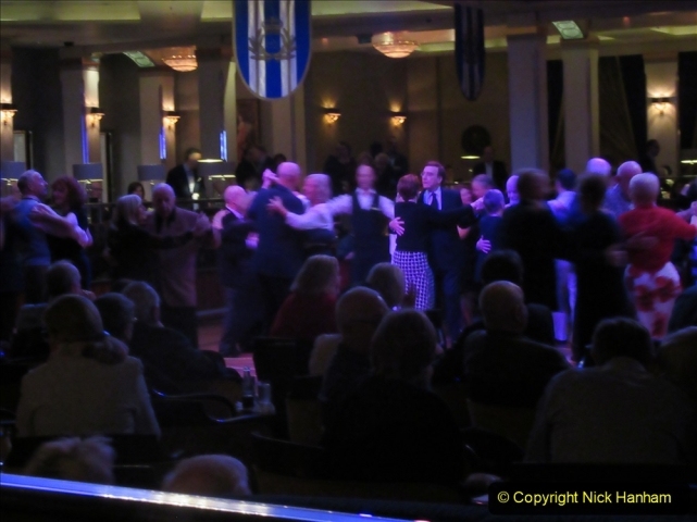 2019-11-03 to 17 Cunard's Queen Mary Southampton to New York. (233) The Queen's Room dancing. 233
