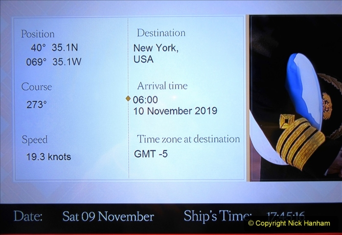 2019-11-03 to 17 Cunard's Queen Mary Southampton to New York. (263) Nearly at New York. 263