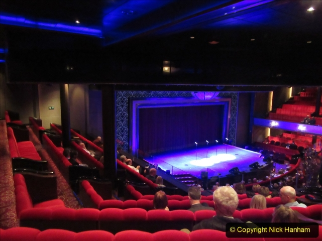 2019-11-03 to 17 Cunard's Queen Mary Southampton to New York. (267) Show time in the Royal Court Theatre. 267
