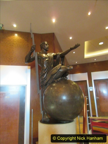 2019-11-03 to 17 Cunard's Queen Mary Southampton to New York. (35) Our ship. 035