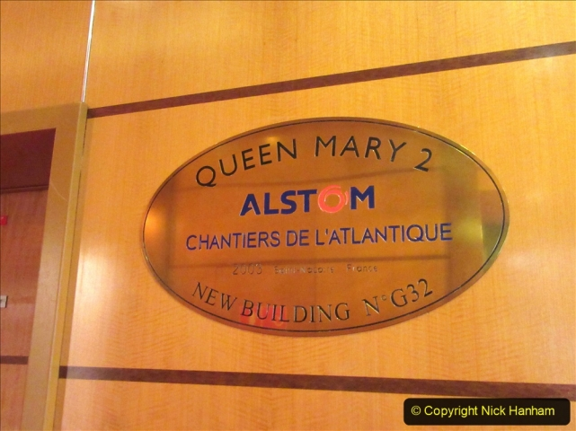 2019-11-03 to 17 Cunard's Queen Mary Southampton to New York. (41) Our ship. 041
