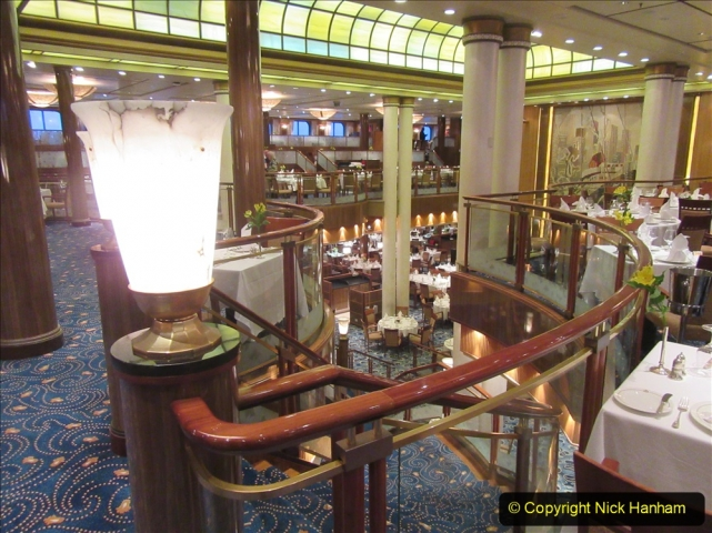 2019-11-03 to 17 Cunard's Queen Mary Southampton to New York. (45) Our ship. 045