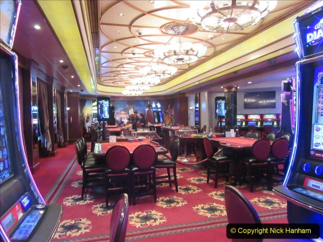 2019-11-03 to 17 Cunard's Queen Mary Southampton to New York. (66) Our ship. 066