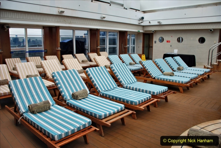 2019-11-03 to 17 Cunard's Queen Mary Southampton to New York. (68) Our ship. 068