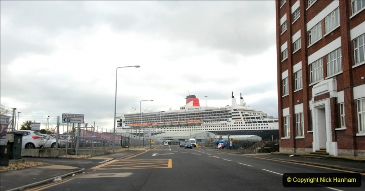 2019-11-03 to 17 Cunard's Queen Mary Southampton to New York. (7) To Southampton from Poole, Dorset. 007