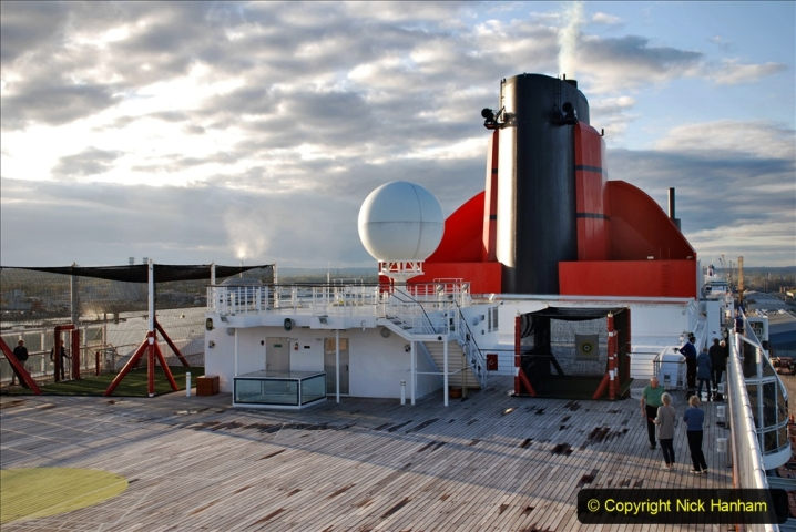 2019-11-03 to 17 Cunard's Queen Mary Southampton to New York. (99) Our ship. 099