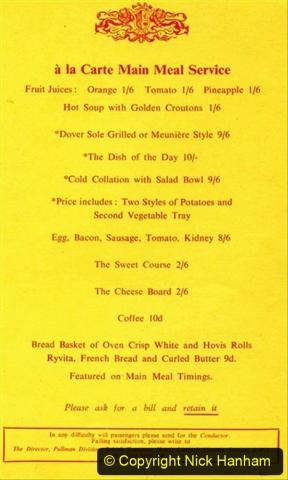 Railway Food. (172)  Pullmans. 172