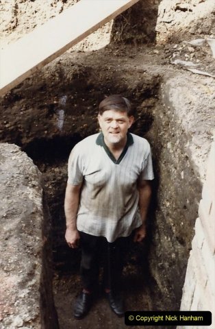 Retrospective  Summer 1985 Your Host builds a house extension. (11) Trench warfare. 7 foot down for one footing trench.11