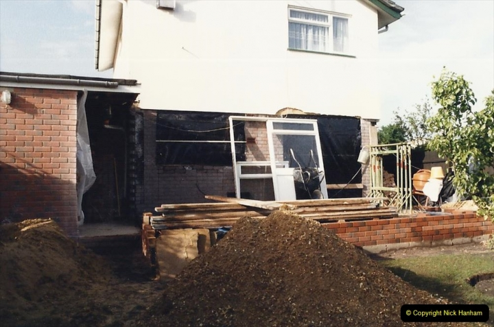 Retrospective  Summer 1985 Your Host builds a house extension. (18) Ground level and floor. 18