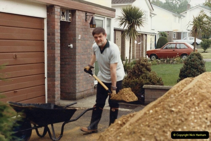 Retrospective  Summer 1985 Your Host builds a house extension. (2) Works starts and digging out for foundations. 02