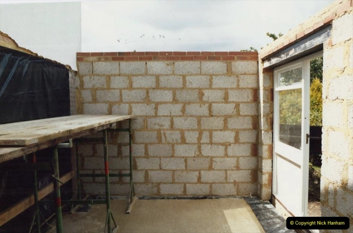 Retrospective  Summer 1985 Your Host builds a house extension. (26) A bricklayer friend, Bob, did the walls. 26