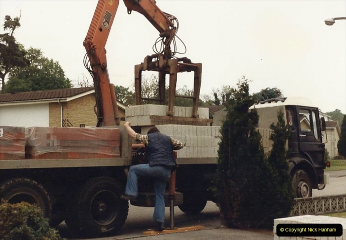 Retrospective  Summer 1985 Your Host builds a house extension. (3) Works starts and digging out for foundations. 03