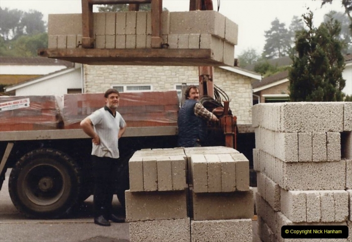 Retrospective  Summer 1985 Your Host builds a house extension. (4) Works starts and digging out for foundations. 04