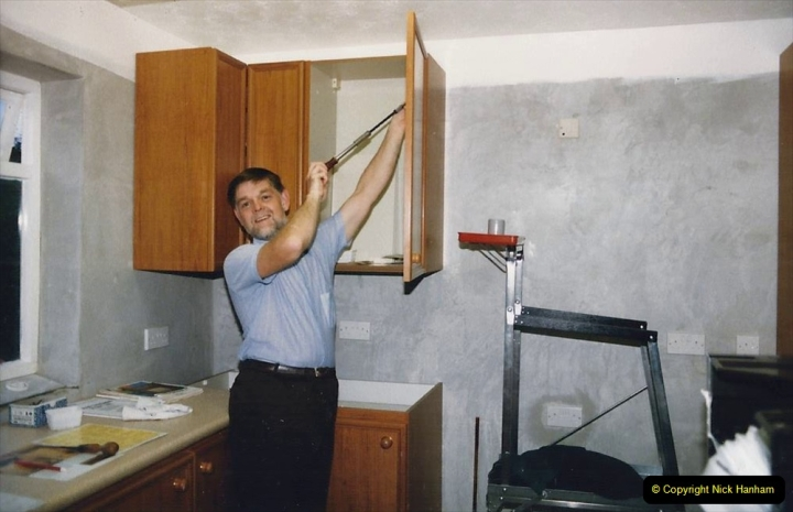Retrospective  Summer 1985 Your Host builds a house extension. (59) Kitchen cupboards assembly and erection. 59