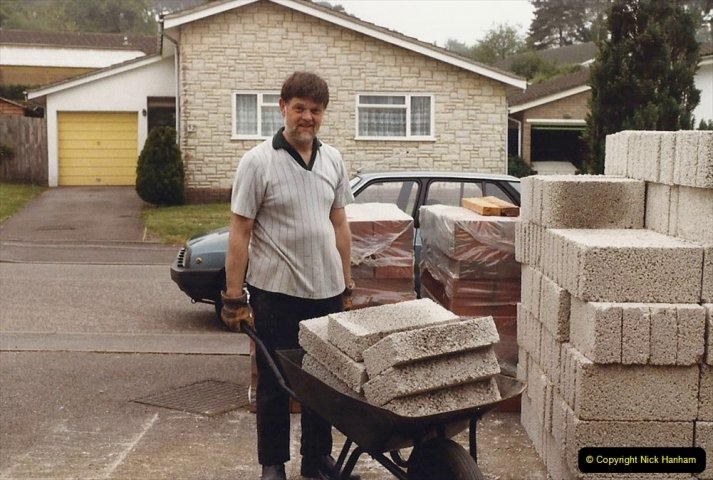 Retrospective  Summer 1985 Your Host builds a house extension. (6) Works starts and digging out for foundations. 06
