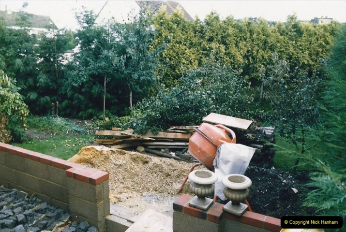 Retrospective  Summer 1985 Your Host builds a house extension. (62) Outside area.62