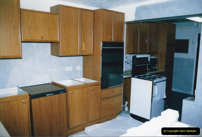 Retrospective  Summer 1985 Your Host builds a house extension. (64) Cupboard and work surface area completed. 64
