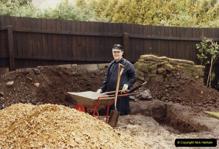 Retrospective  Summer 1985 Your Host builds a house extension. (7) Works starts and digging out for foundations. 07