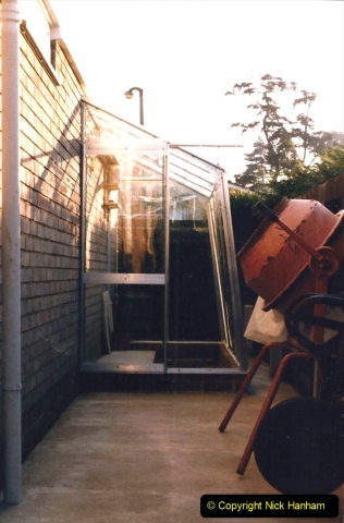 Retrospective  Summer 1985 Your Host builds a house extension. (75) New green house outside.75