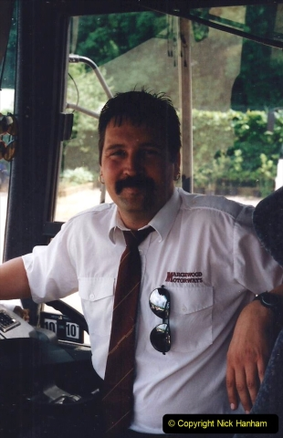 1999 June, Stamford - Burghley - Barnsdale. (130) Our Coach Driver.130