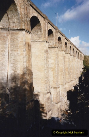 1990 October North West France. (11) Morlaix. On the railway viaduct. 11