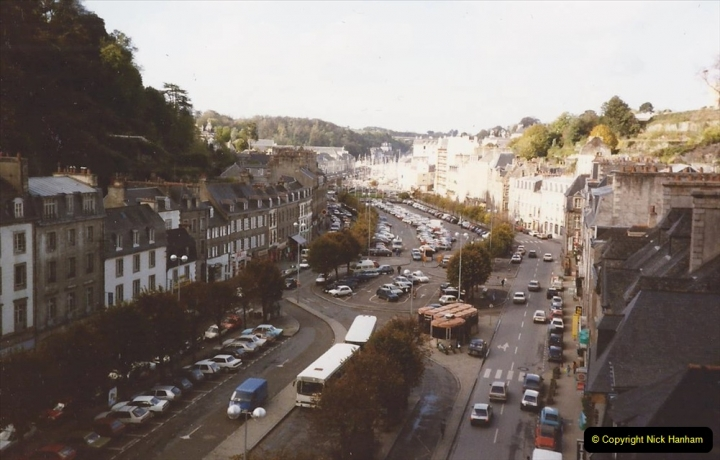 1990 October North West France. (13) Morlaix. On the railway viaduct. 13