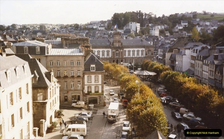 1990 October North West France. (14) Morlaix. On the railway viaduct. 14