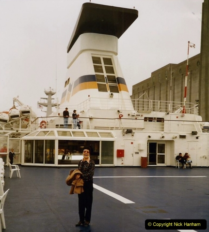 1991 Morlaix Area. (3) Portsmouth to Roscoff, France. 03