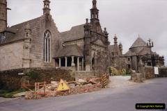 1991 Morlaix Area. (35) Guimiliau Lorry accident damage to the church.35