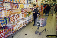 1991 Morlaix Area. (6) French supermarket shopping.06
