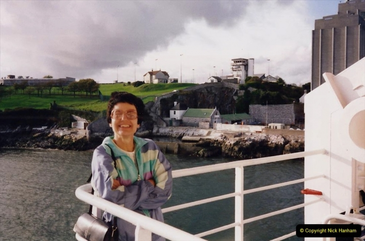 1994 France - October. (5) Plymouth to Roscoff. Your Host's Wife.05