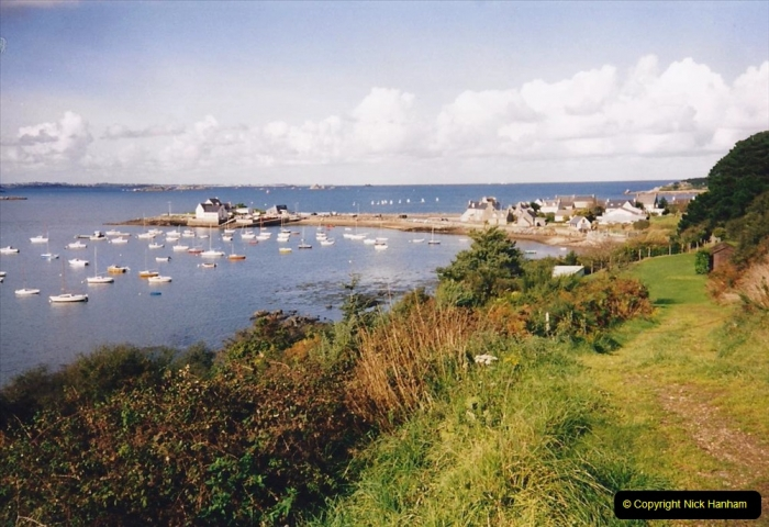 1994 France - October. (63) By the Baie De Morlaix.  Our favourite picknick spot. 57