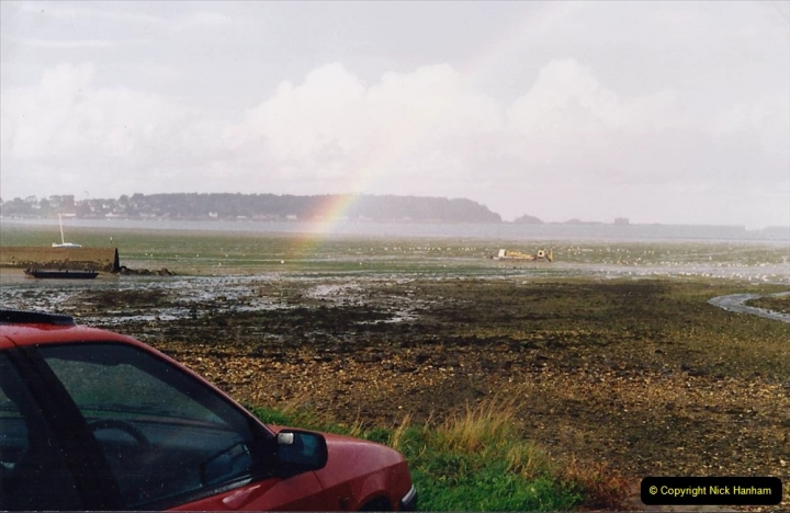 1994 France - October. (65) Morlaix river estuary. A Xantia car at the end of the rainbow.62