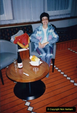 1994 France - October. (90) Our top grade cabin on the MV Val De Loire roscoff to Plymouth. 90