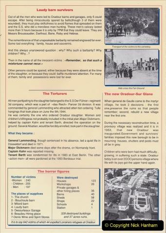 1995 France May - June. (40) Return visit to Oradour - Sur - Glane. 40