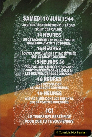 1995 France May - June. (41) Return visit to Oradour - Sur - Glane. 41
